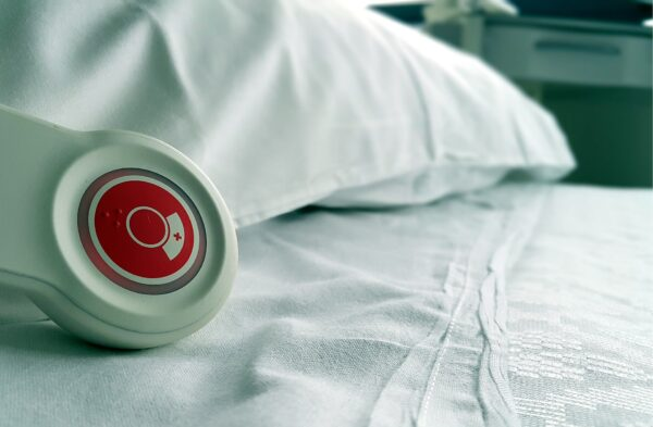 Pillow speaker for nurse call systems