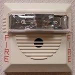 horn and strobe fire alarm